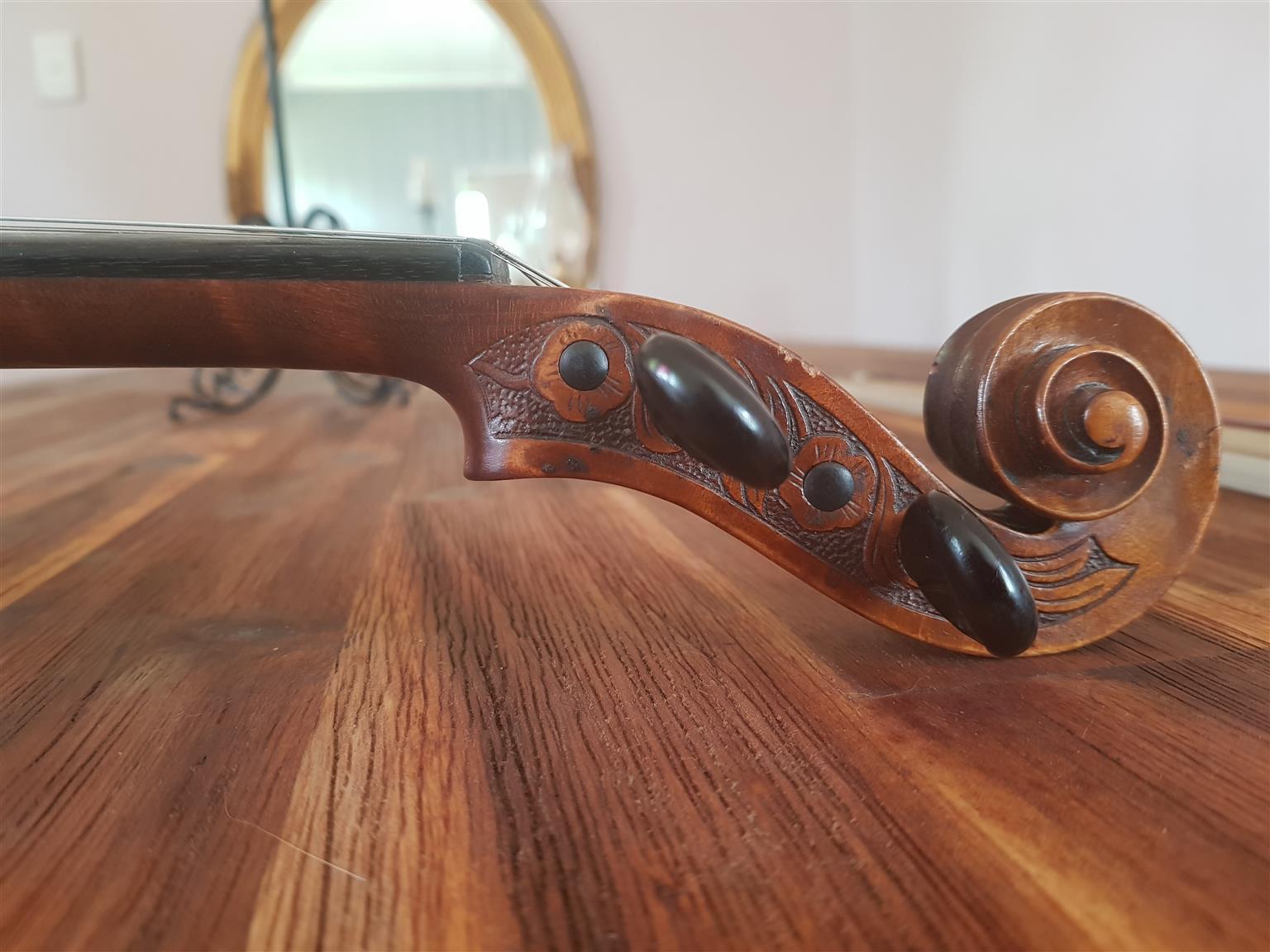 Antique Unlabeled Violin, German, circa 1890