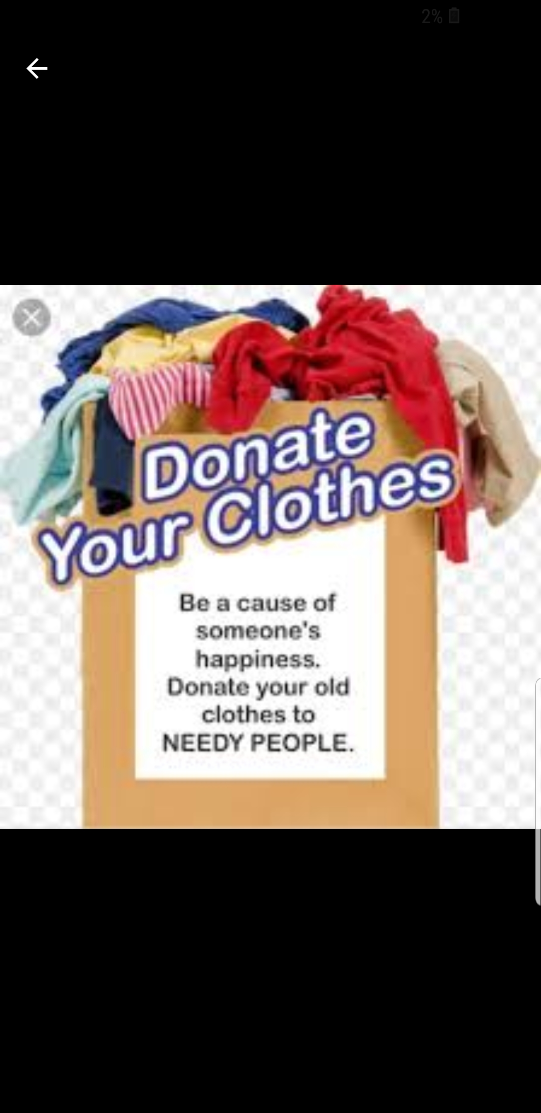Clothes and household stuff  needed for Charity and donations