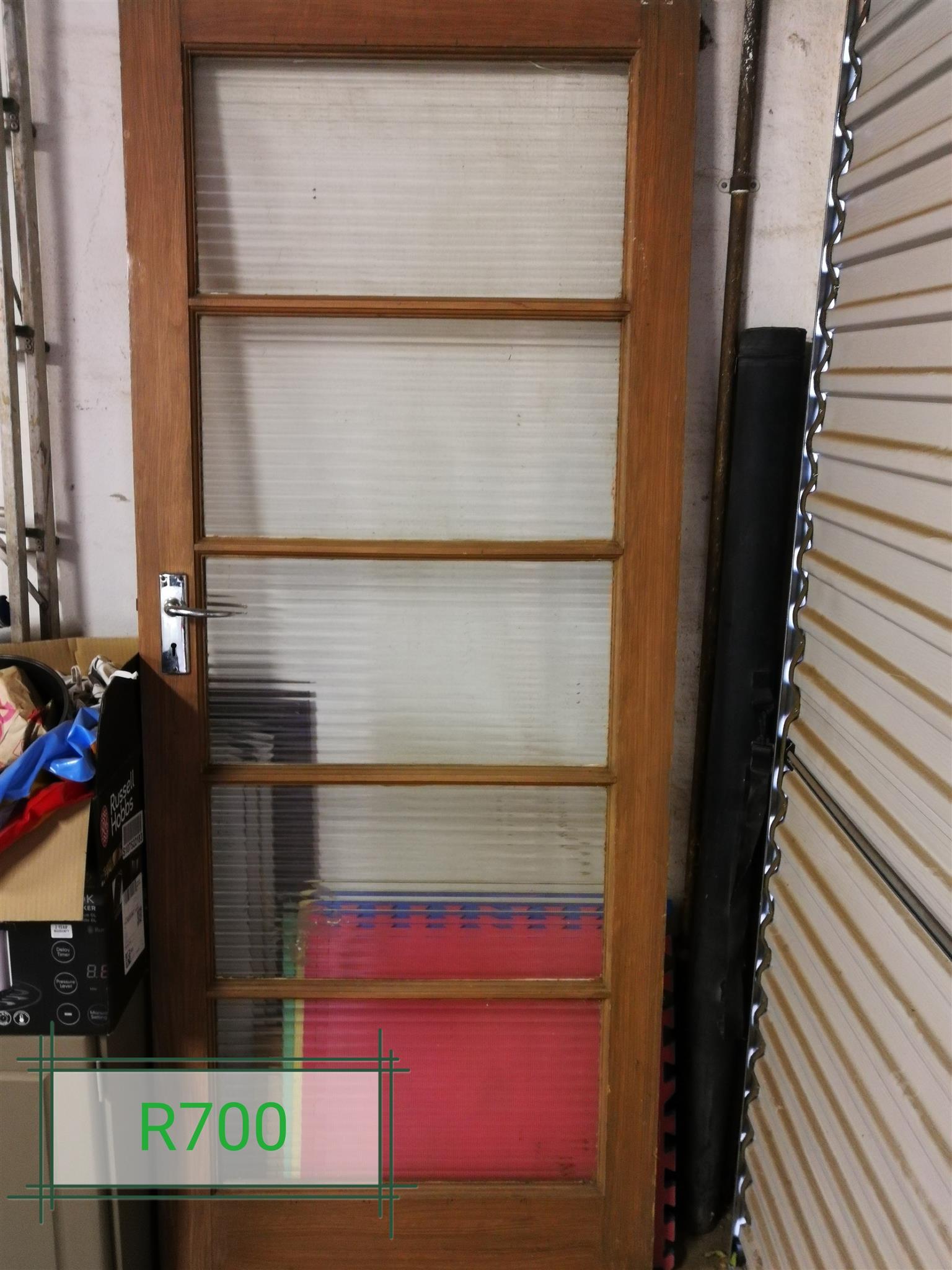 Door with glass