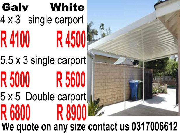 Carports Durban Kzn Materials Sold Direct To Public High
