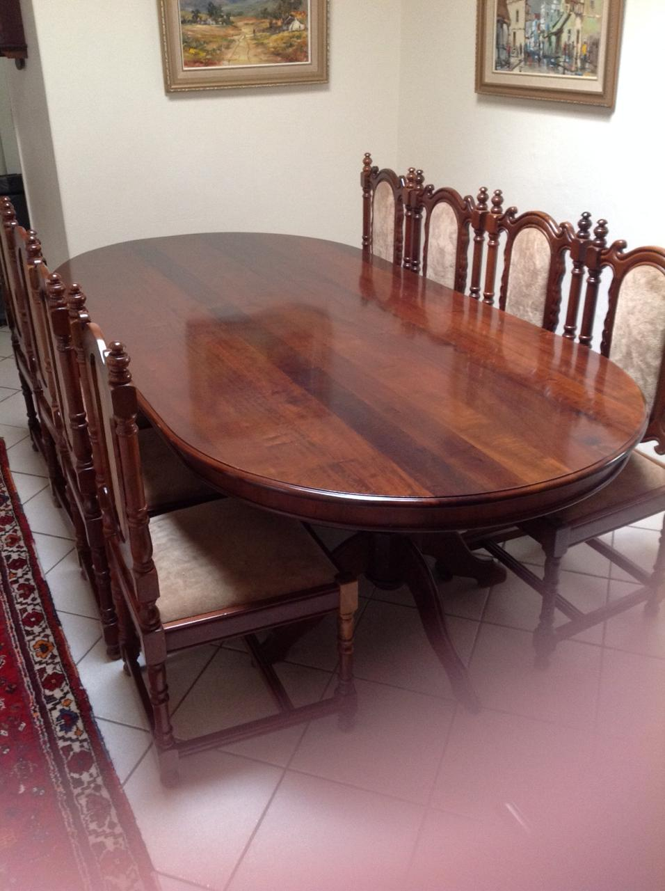 SOLID IMBUIA DINING ROOM SUITE