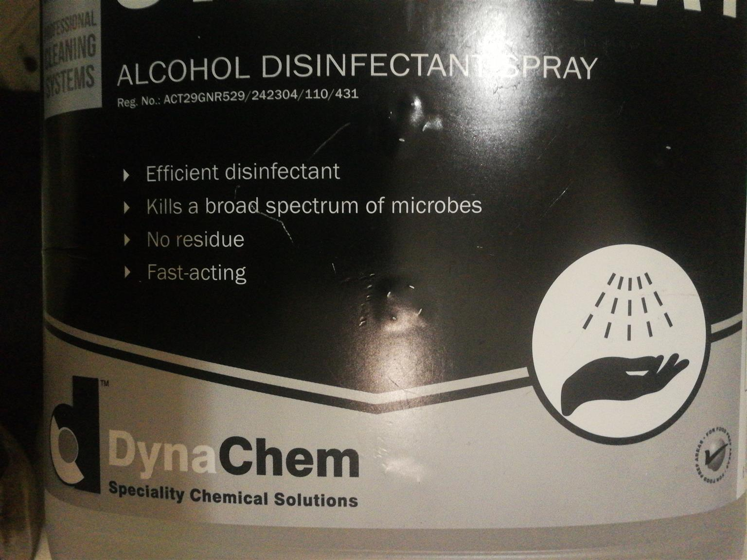 Air fogging/fumigation canisters and disinfectant spray