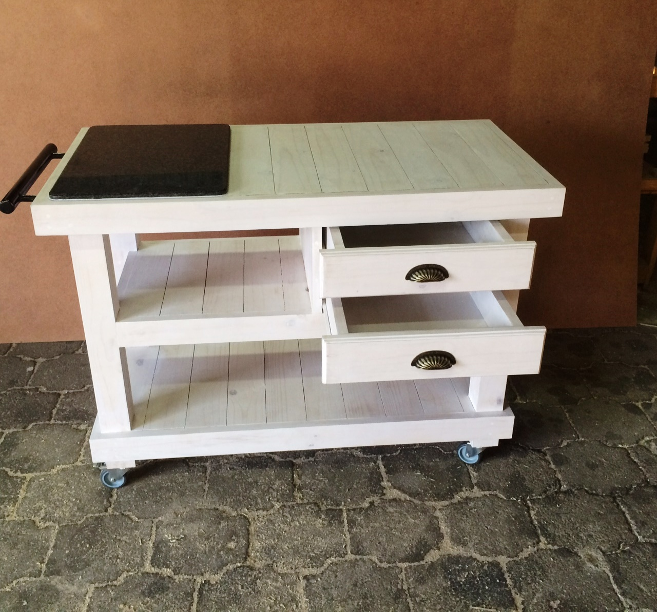 Butchers Block Farmhouse series 1200 with drawers - White stained