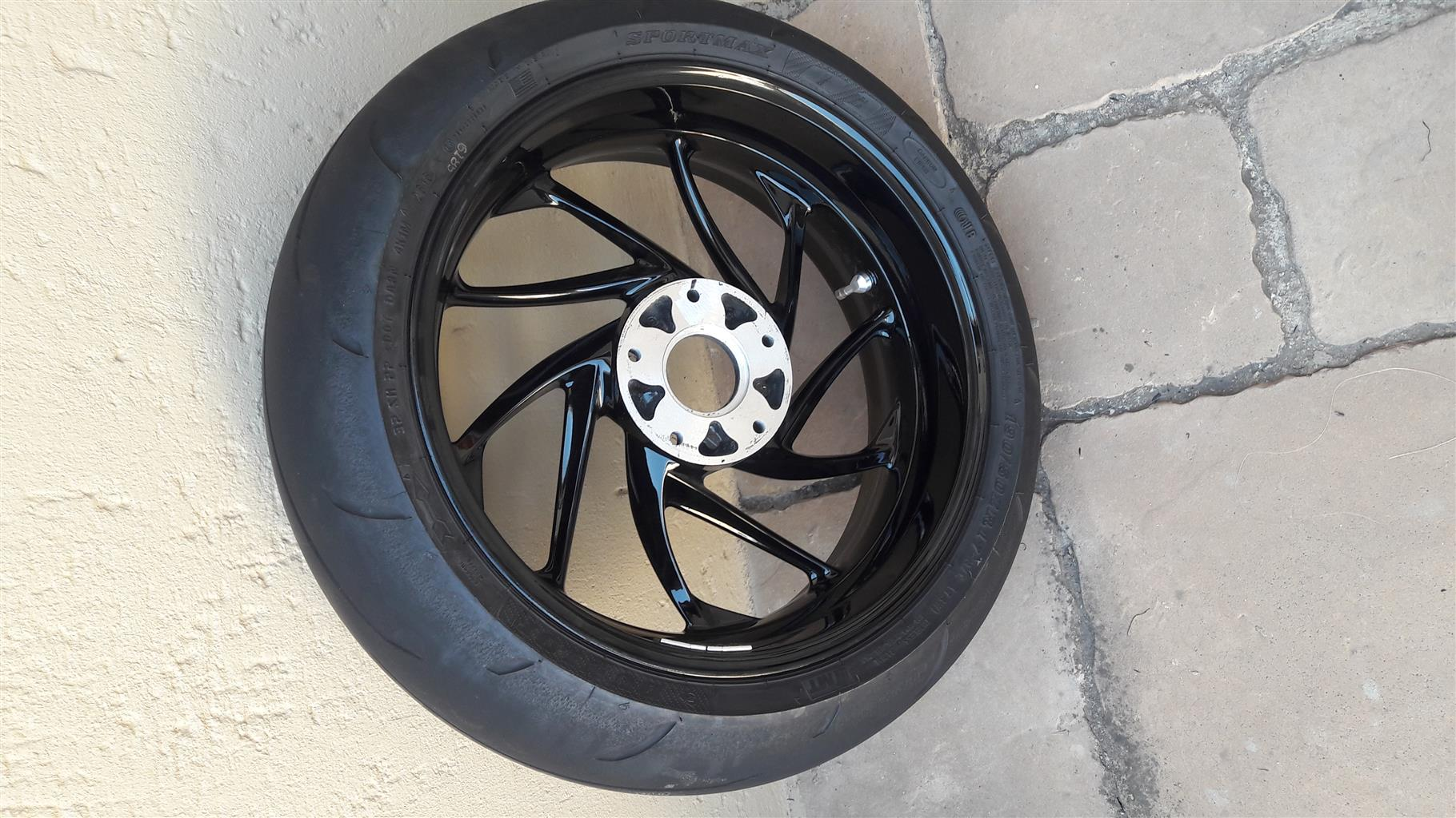 BMW mag rim with tyre