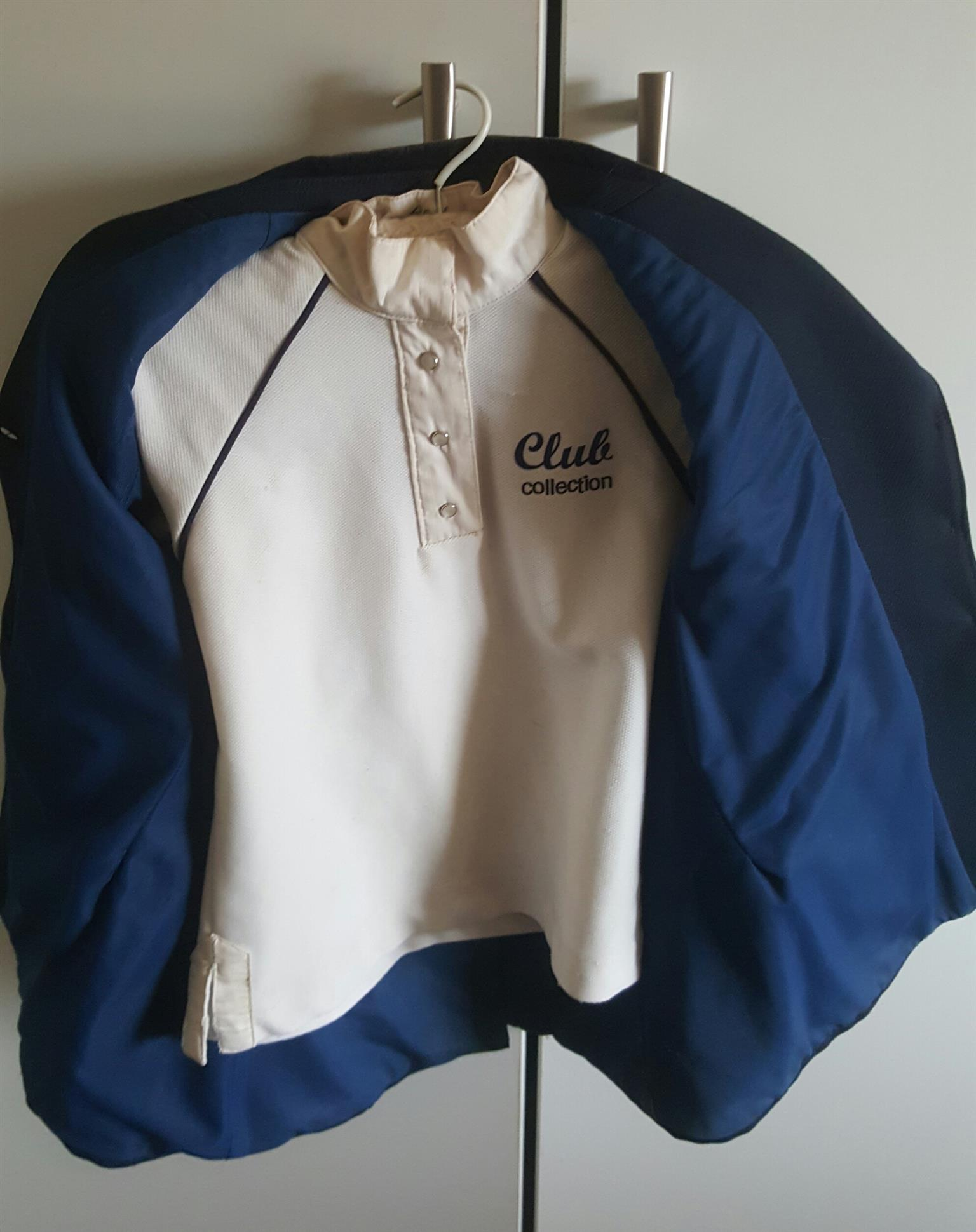 Kids navy show jacket and show shirt
