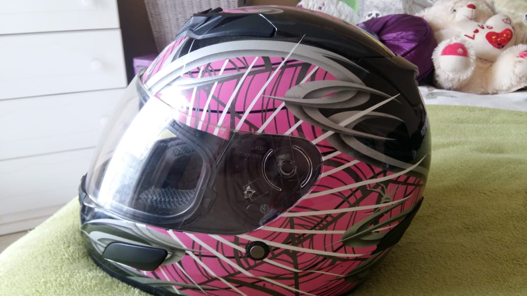 Pink Vega insight Biker helmet