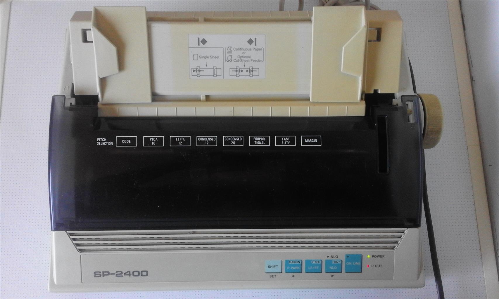 Dot Matrix Printer Seikosha. For printing invoices. Complete.
