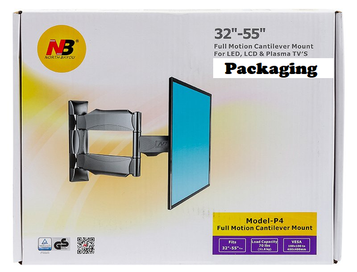 TV Wall Mount Bracket. Full Motion Cantilever (Tilt, Swivel) Bracket for 32inch ~ 55inch TVs. NEW
