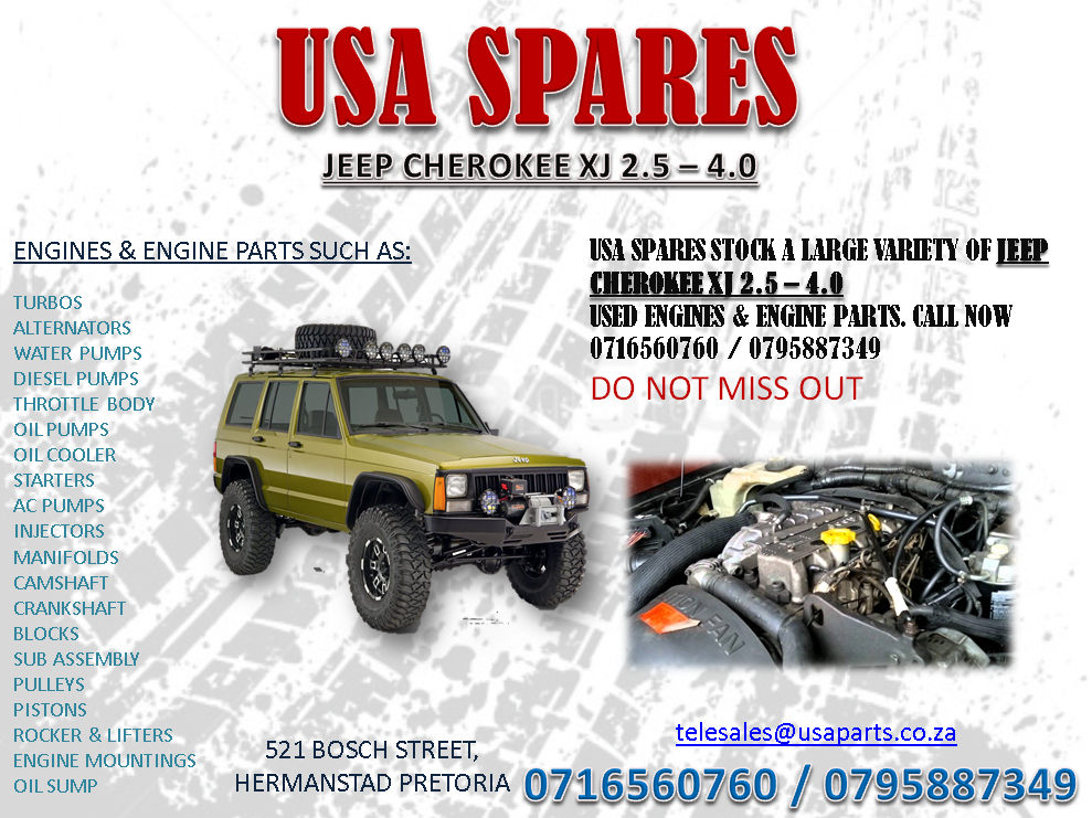 Jeep 2 5 Engine >> Jeep Cherokee Xj 2 5 4 0 Engines And Engine Parts