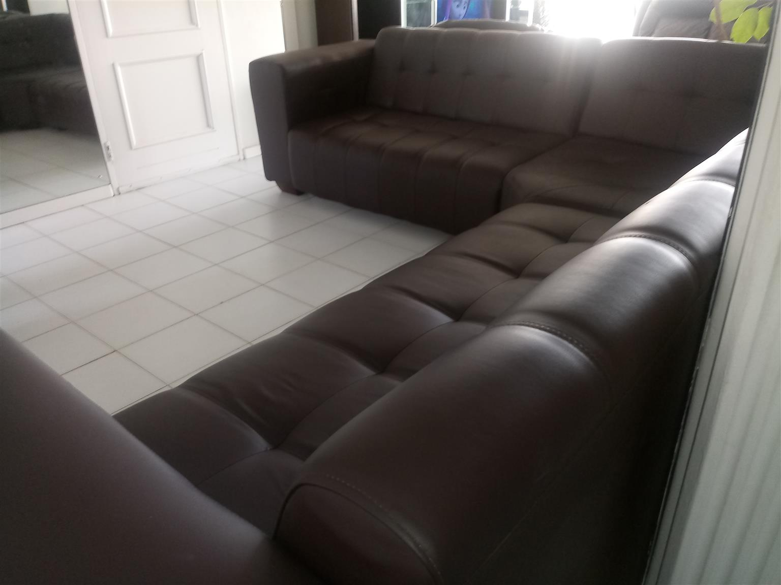 promo code 8527a 10ca8 Brown 2 and 3 seater corner lounge suite
