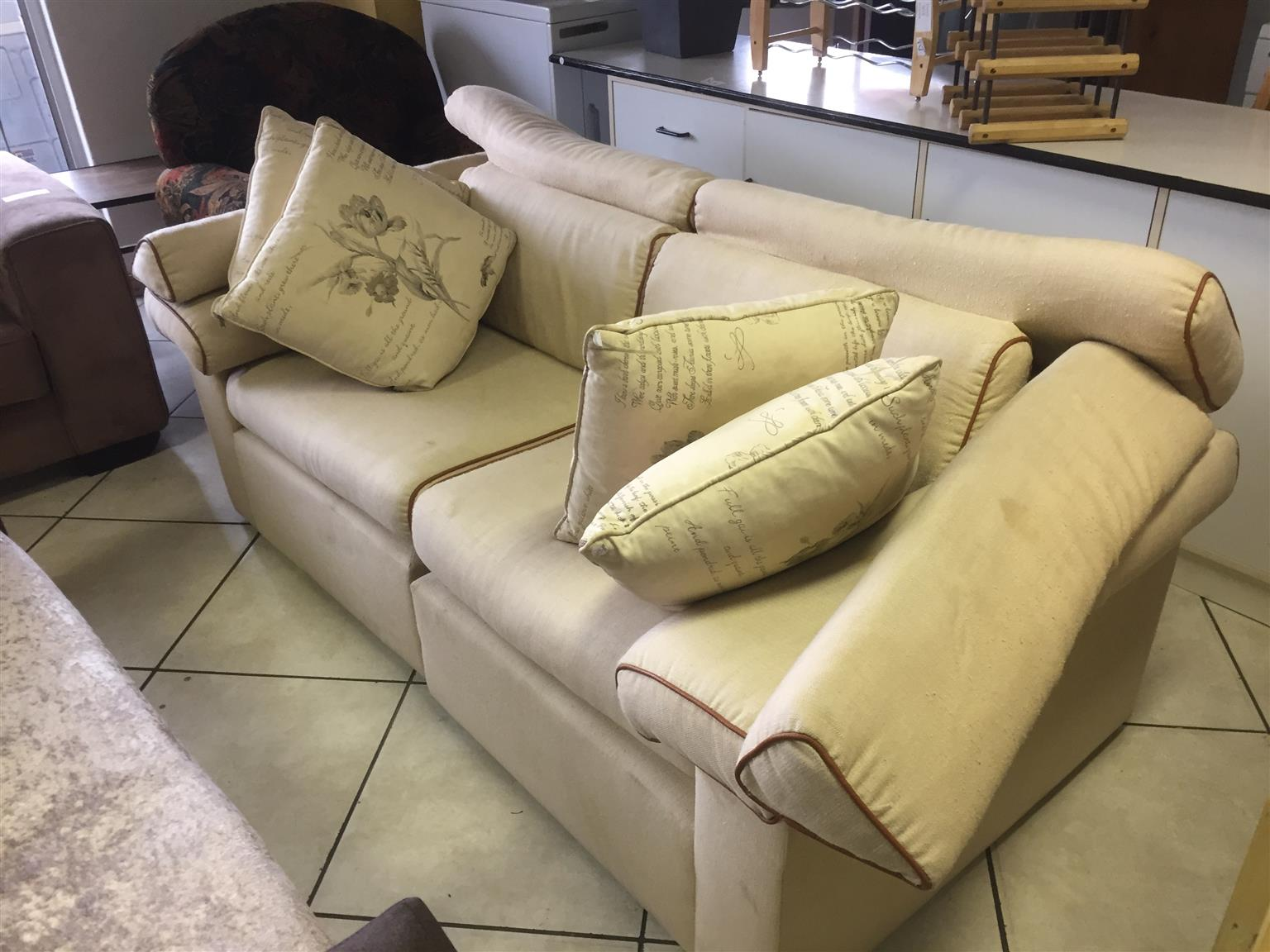 2 Seater Sofa With Cushions Junk Mail