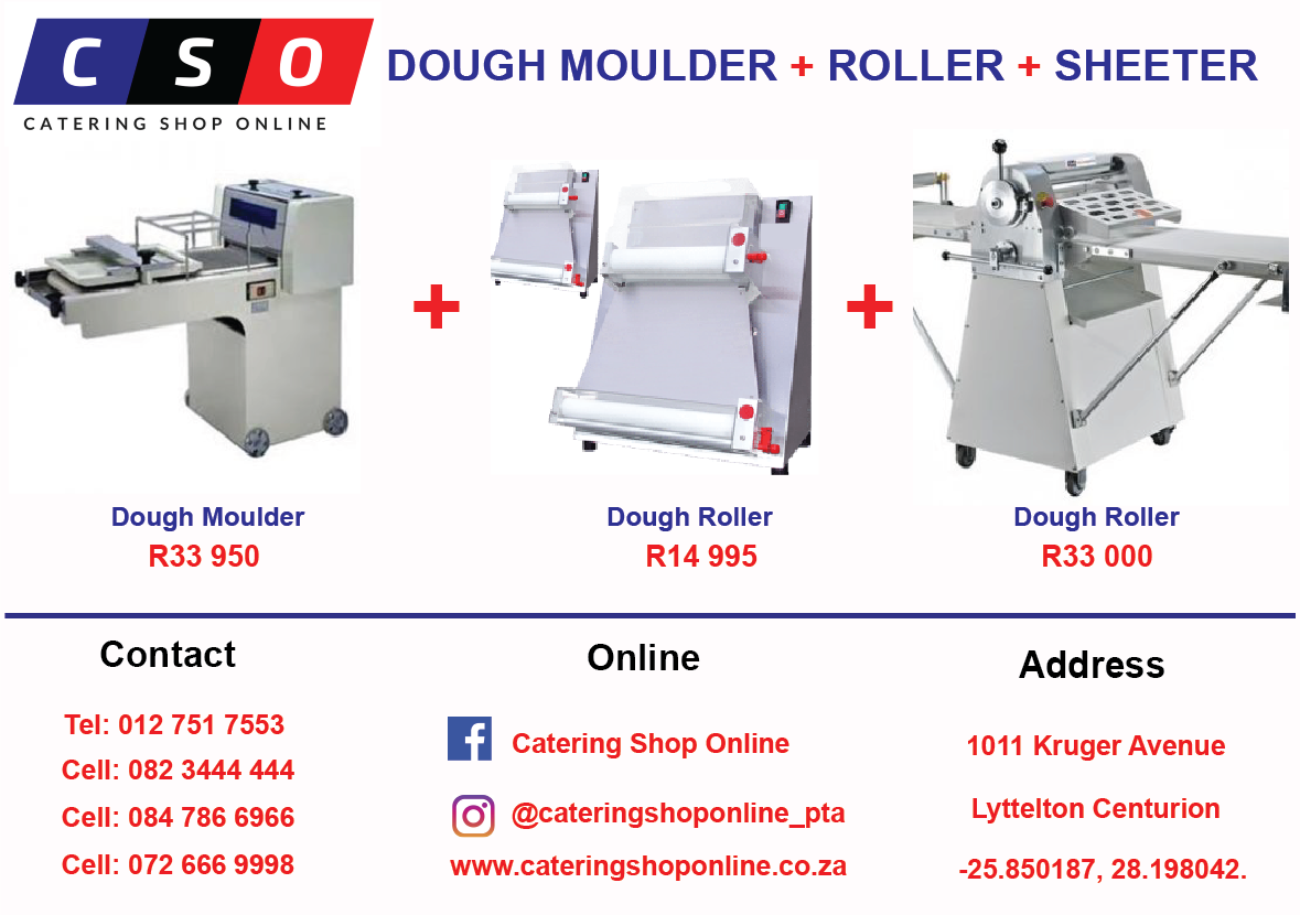 Dough Moulder, Roller and Sheeter Combo