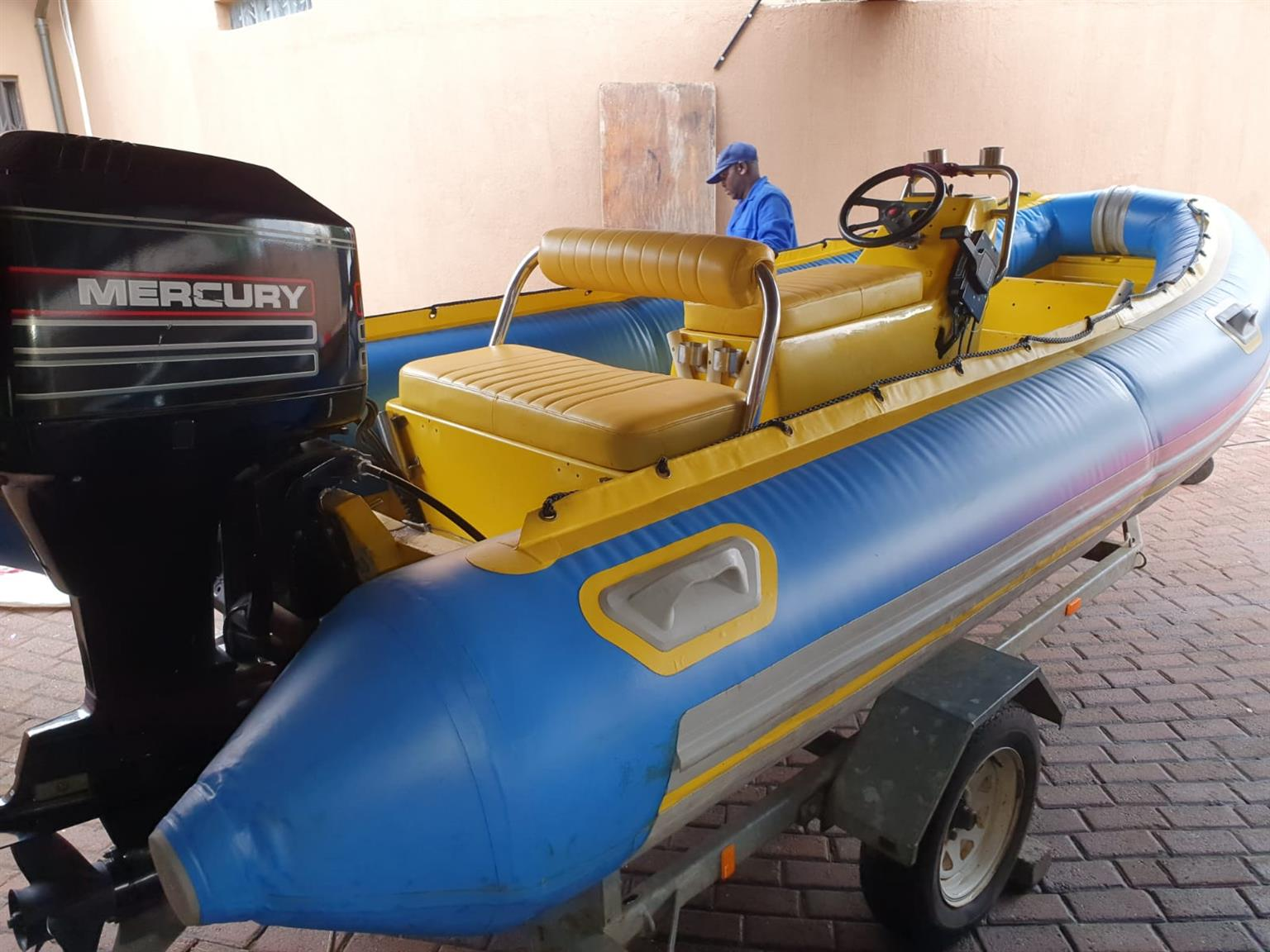 4.6m Gemini Semi-Rigid Boat with 75 Horsepower Mercury Motor