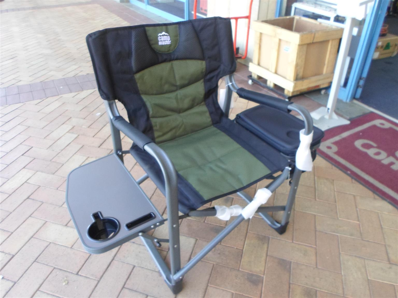 Camp Master Chair with Side Table and Cooler