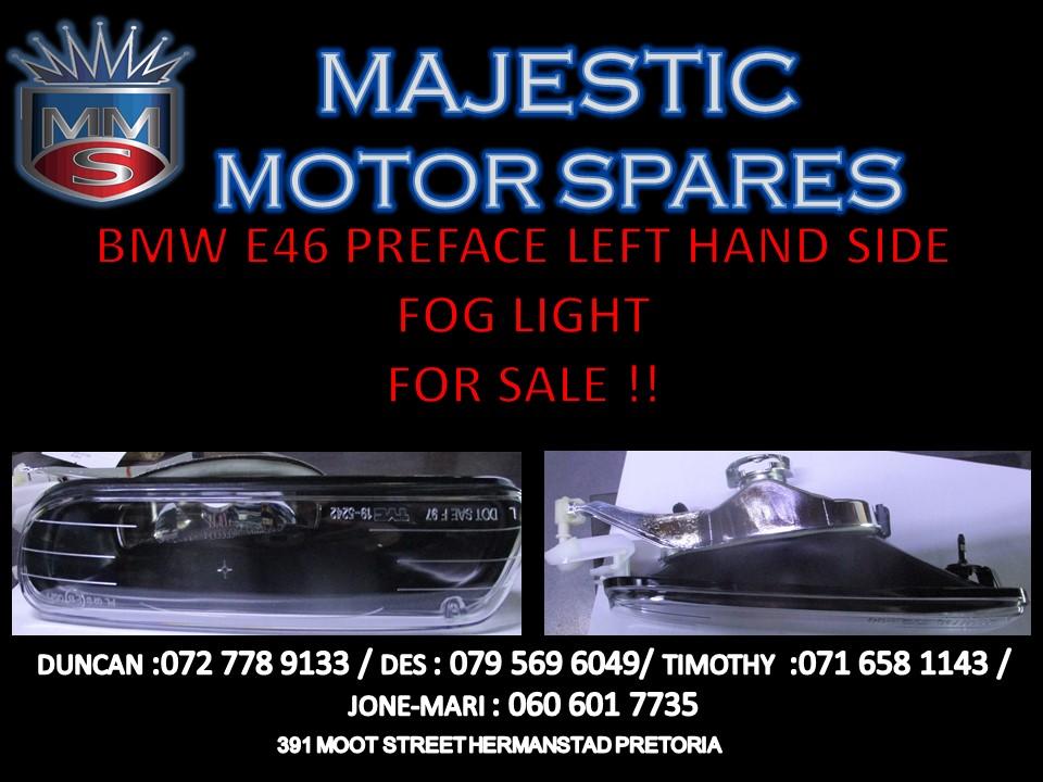 BMW E46 PREFACE LEFT HAND SIDE FOG LIGHT