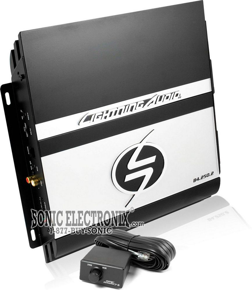 lightning audio amp and 10 inch rockford sub