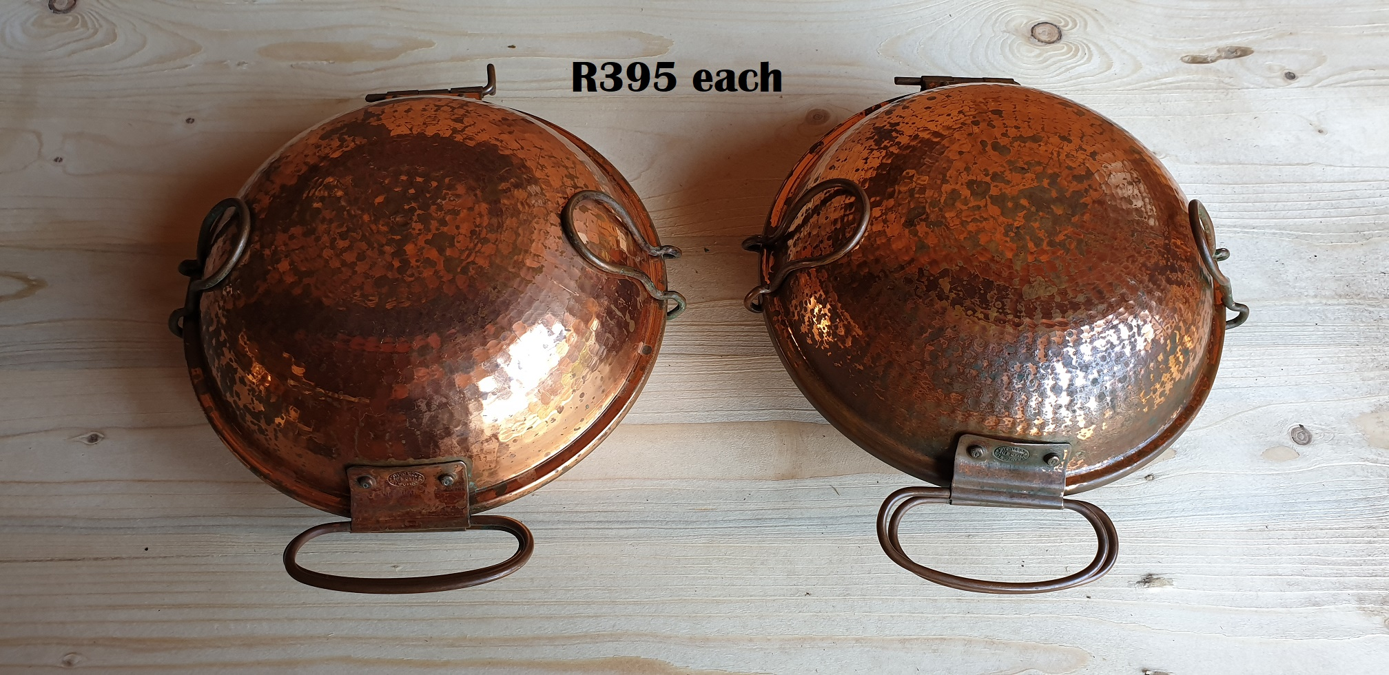 Traditional Portugese Copper Cataplana Food Steamer Pot (D 210mm) EACH R395