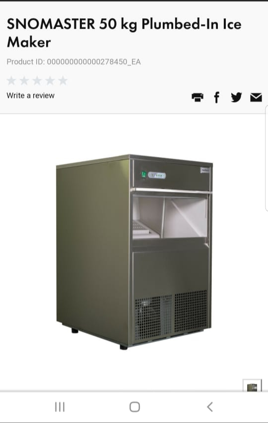 50kg Snowmaster icemachine