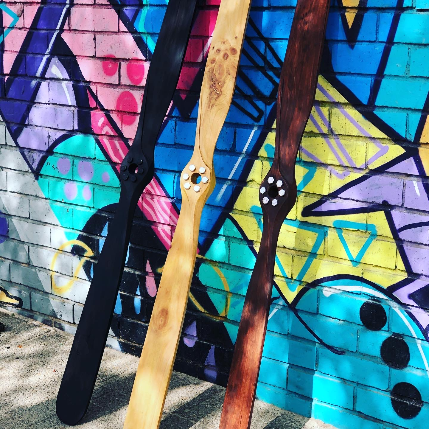 Hand made airplane propellers