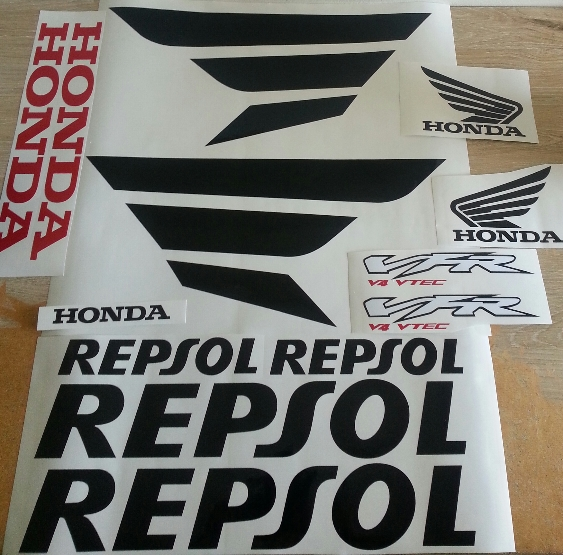 Repsol CBR decals stickers vinyl cut graphics kits
