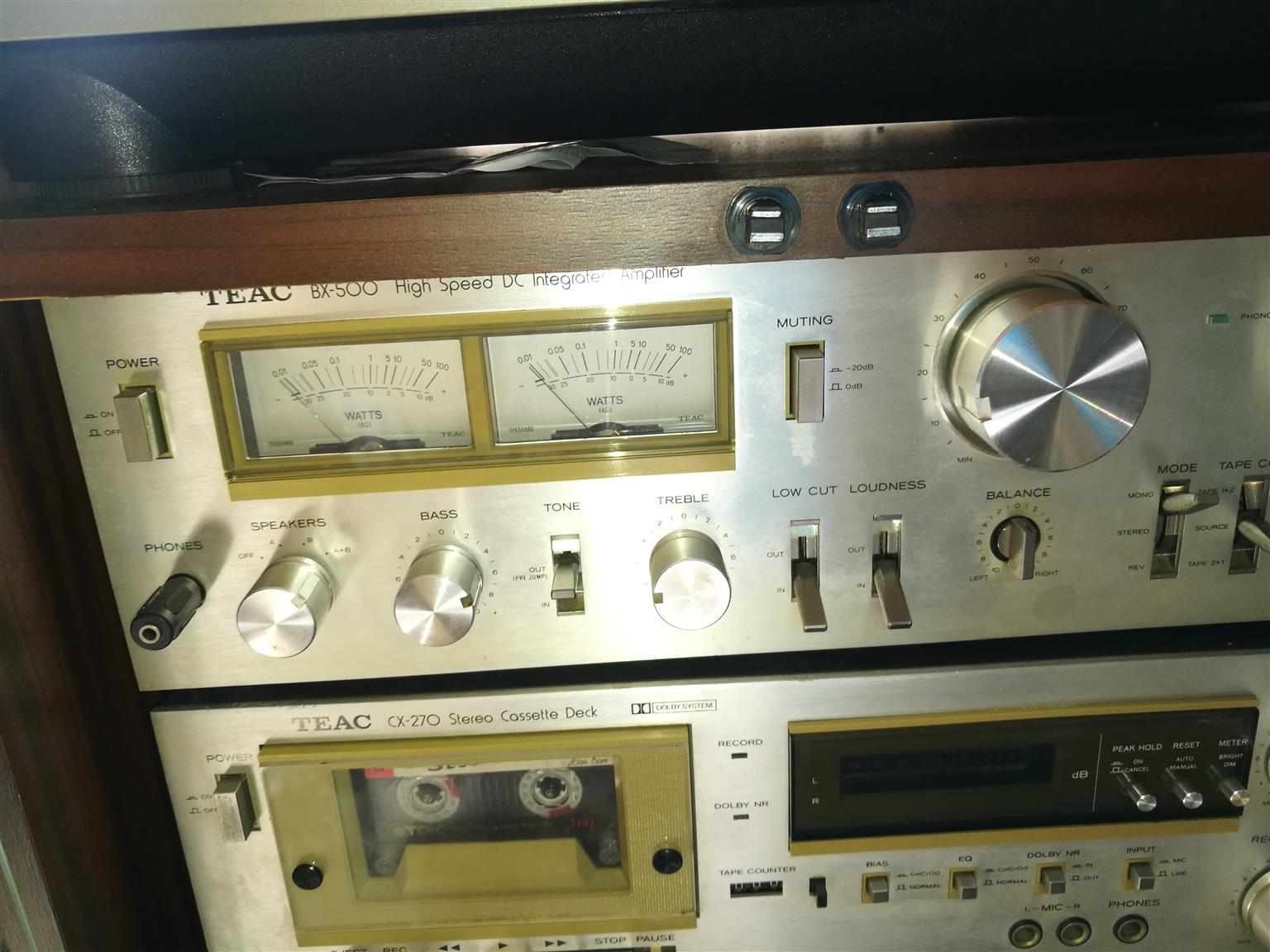 A great vintage  Teac BX - 500 Stereo High Speed DC Integrated Amplifier (1979-80) SOLD