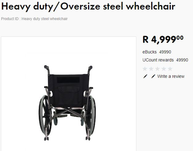 Extra Wide heay Duty Wheel Chair