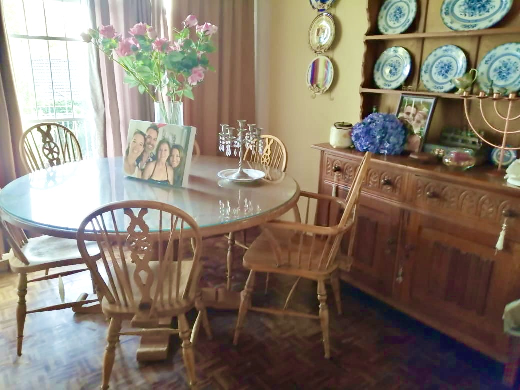 Oak table chairs and Welch dresser