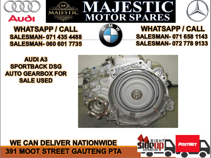 Audi A3 DSG auto gearbox for sale