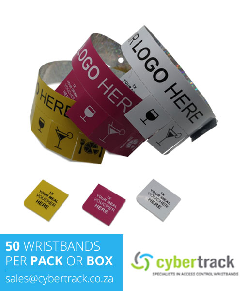 50 Tear Off Tab Wristbands for Events