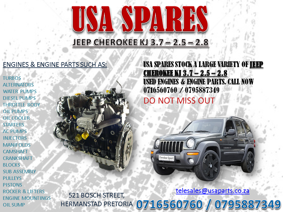 Jeep 2 5 Engine >> Jeep Cherokee Kj 3 7 2 5 2 8 Engines And Engine