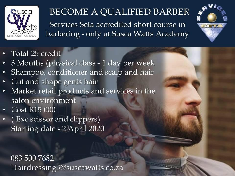 BECOME A QUALIFIED BARBER