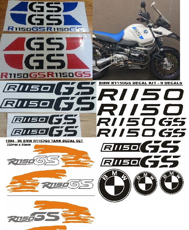 Graphics stickers decals kits for BMW R1150 GS bikes.