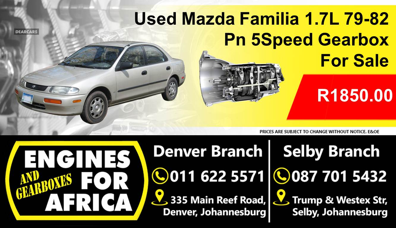 Used Mazda Familia 1 7l 79 82 Pn 5speed Gearbox For Sale