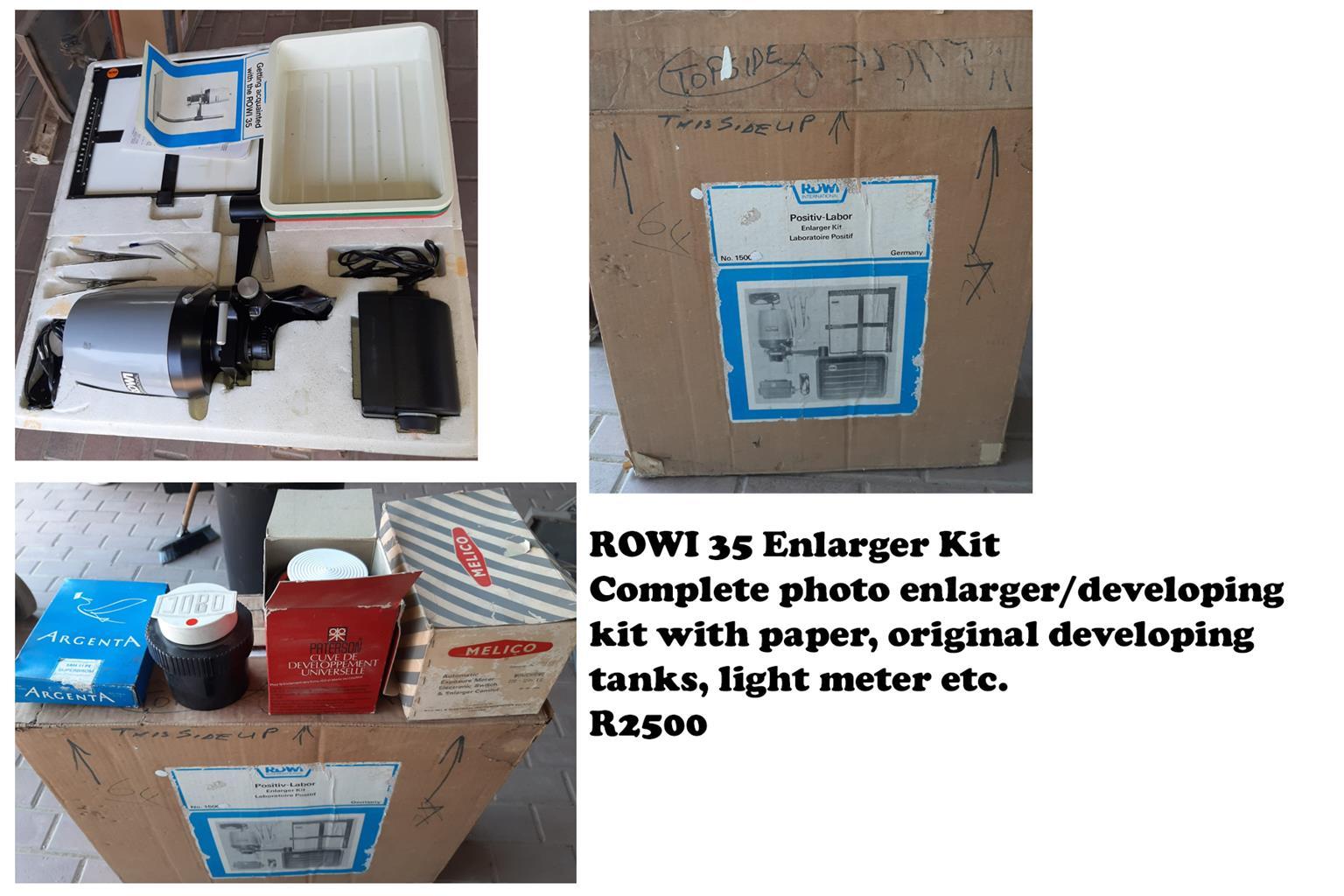 ROWI 35 Photo Developing / Enlarger Kit