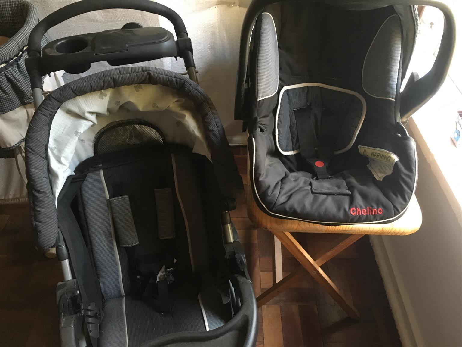 Baby Toddler Pram Car Seat Combo
