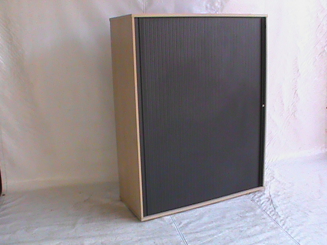 Maple roller door Cabinet. Great condition