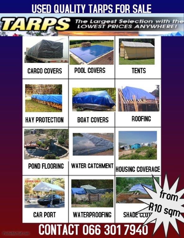 USED TARP VINYL PVC FOR SALE