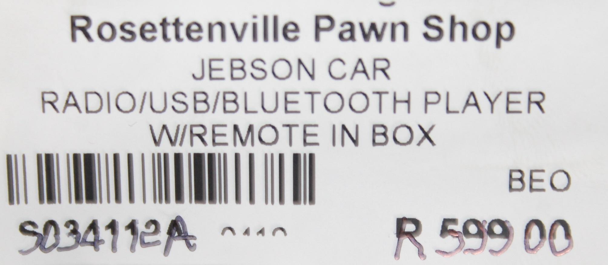 S034112A Jebson car radio #Rosettenvillepawnshop