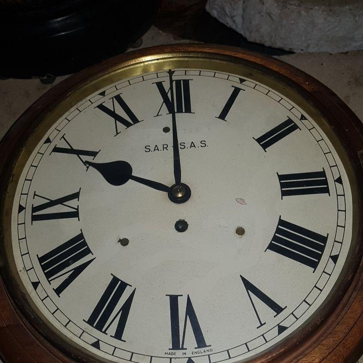 antique railway clock