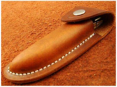 Handmade Damascus Steel Folding Knife 21.75 cm