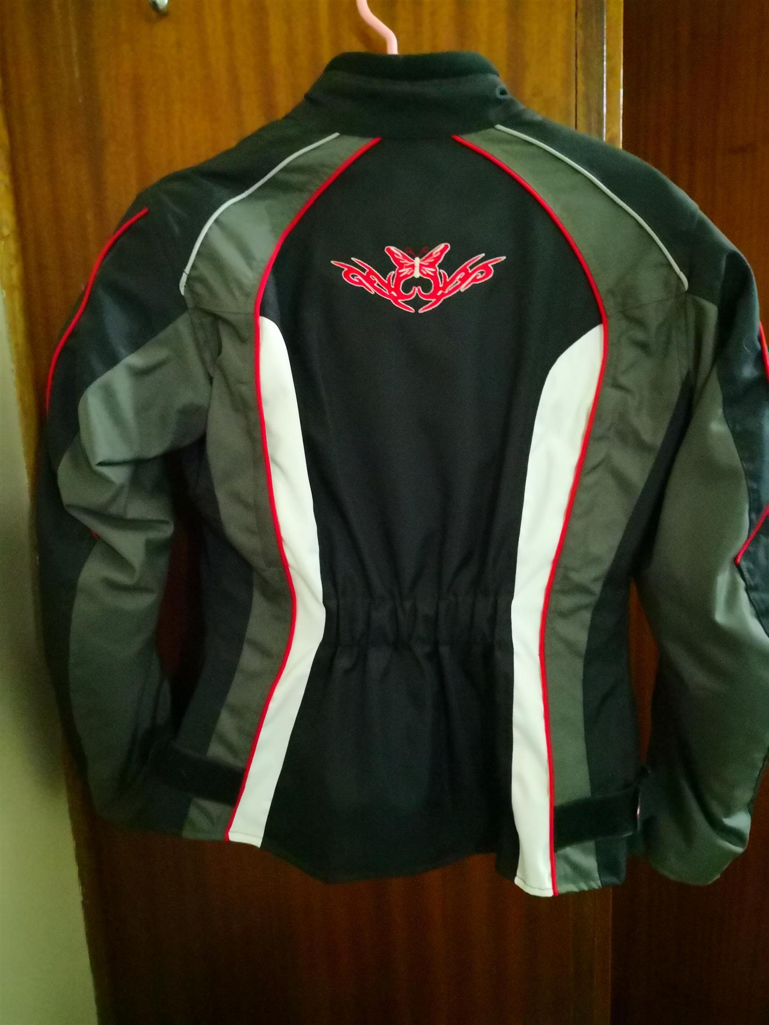 Motorbike jackets and helmet