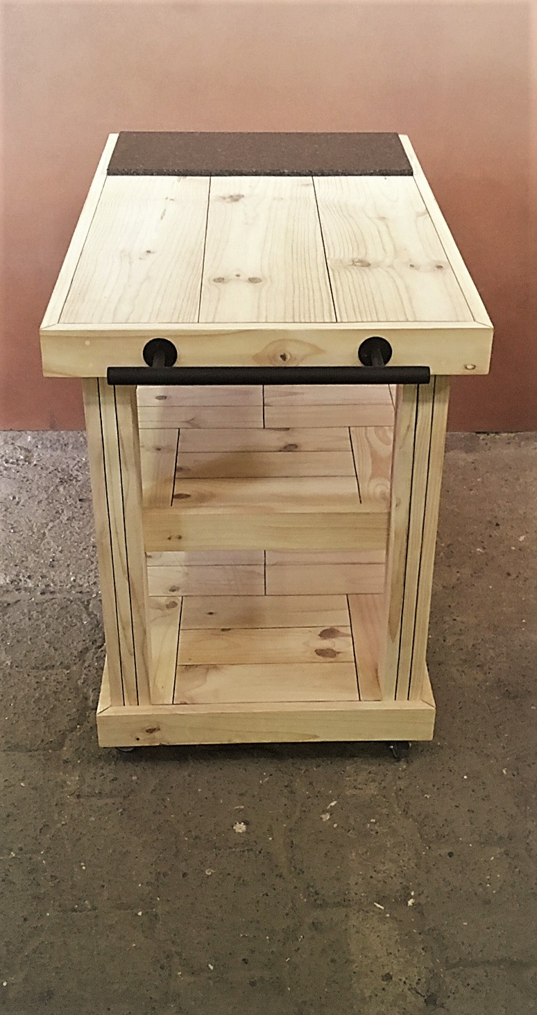 Butchers Block Chunky Farmhouse series 1100 mobile - Raw