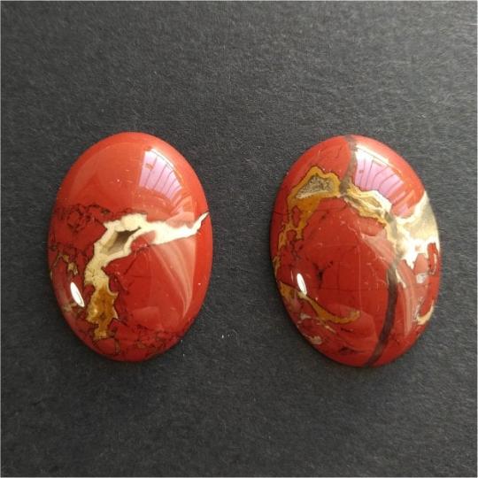 Natural Brown Jasper set of Gem Stones Ideal for Earrings