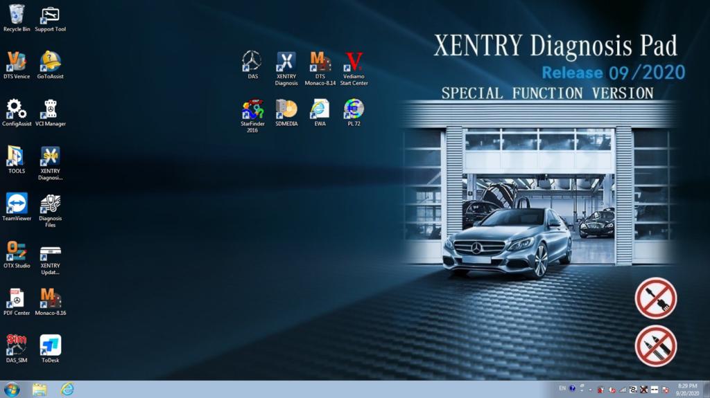 MB Star C5 Mercedes Multiplexer Full Kit + v09/2020 Hard Drive