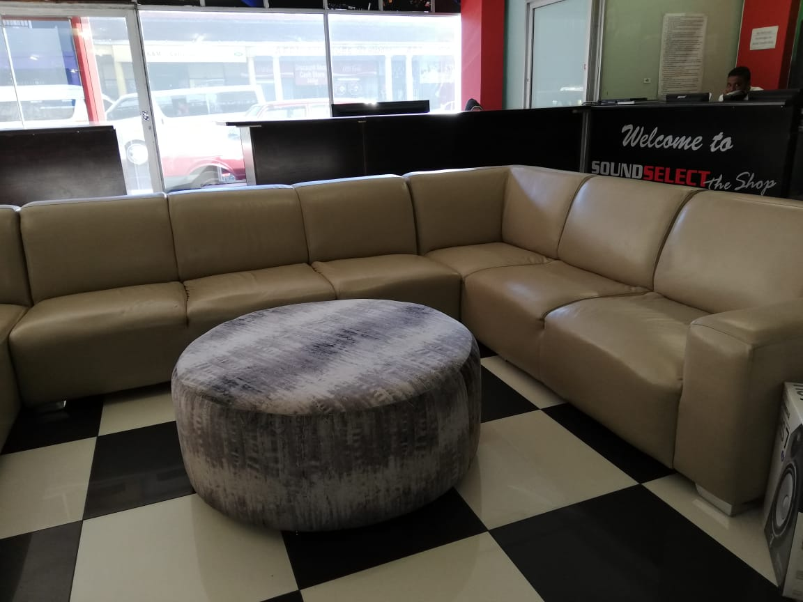 Custom Leather 8 seater couch