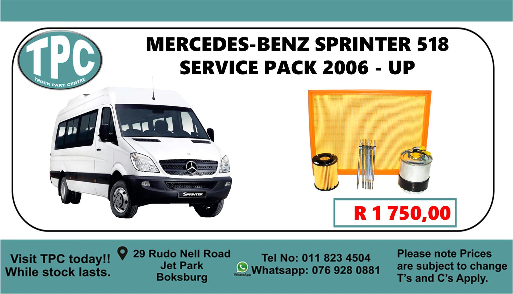 Mercedes-Benz Sprinter 518 Service Pack 2006 - Up - For Sale at TPC.