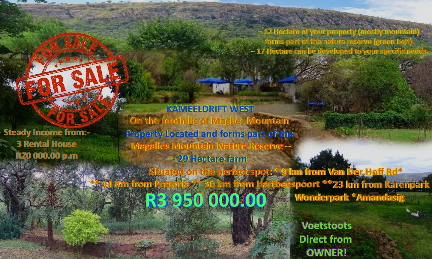 Kameeldrift West - Nearly 30 hectares with R20 000 Income PM Don't MISS OUT on this DIAMOND