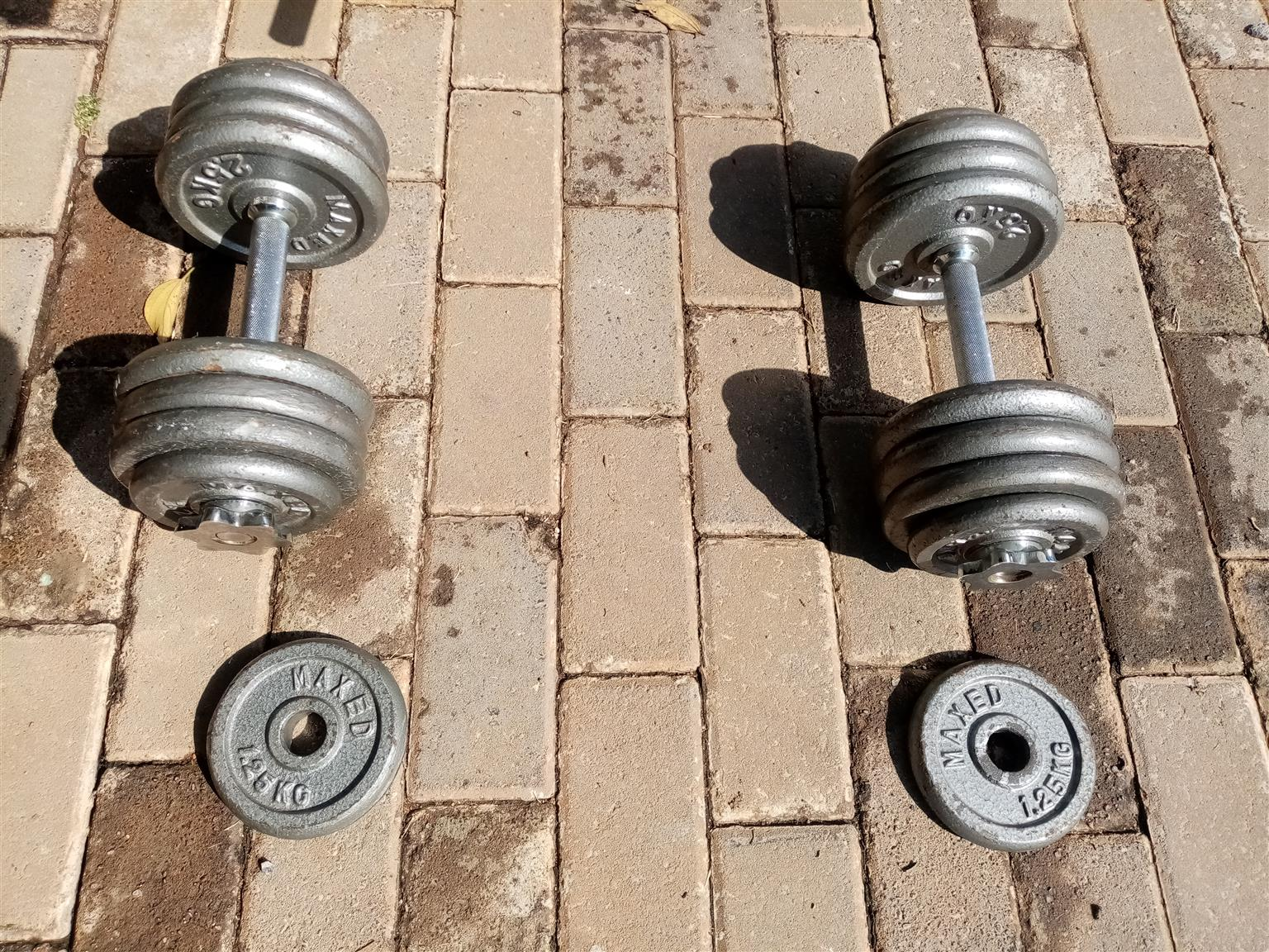 Barbell, Dumbell and Bench