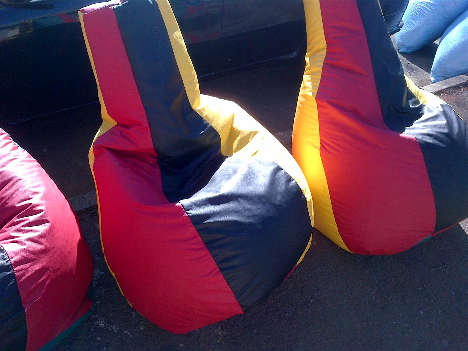 Multi/ RASTA colour bean bags 3COLOURS IN 1 FOR your Home,Office,Room,Playground for cheap priceS