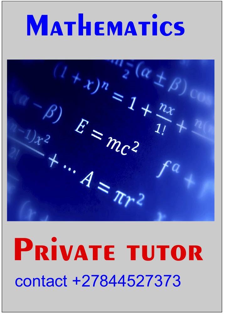 Mathematics Private Tutor